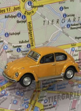 "Magnet ""Oldtimer"" VW Käfer orange"