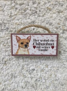 Magnet Chihuahua mit Spruch